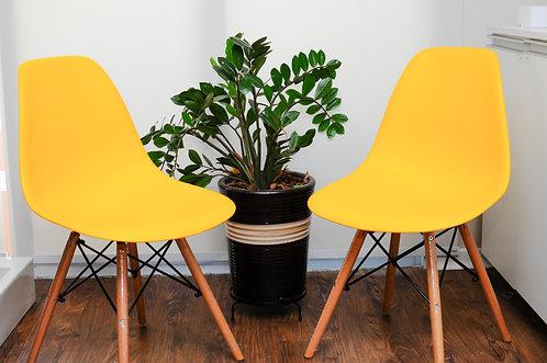 Cadeira Colorida Pvc Modelo Eiffel Amarela
