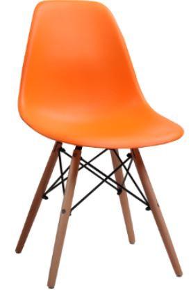 Cadeira Colorida Pvc Modelo Eiffel Laranja