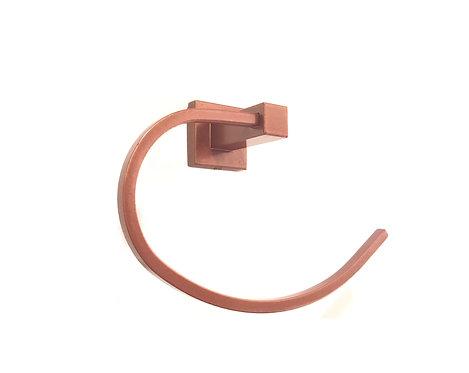 Porta Toalha Quadrado Para Banheiro Rose Gold Dupla Fixação