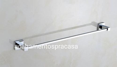 Porta Toalha Linear 56cm. Modelo Quadrado Com Dupla Fixação