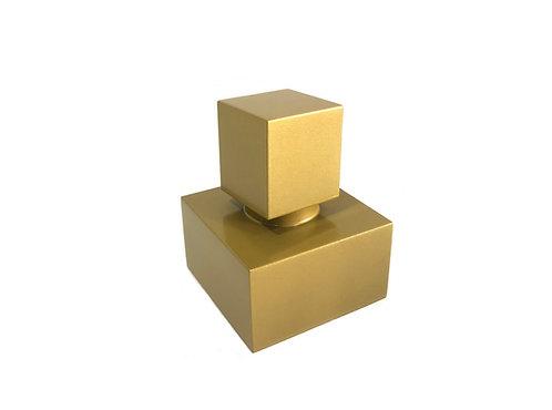 Acabamento Registro Quadrado 1.1/2 Estria Deca Dourado