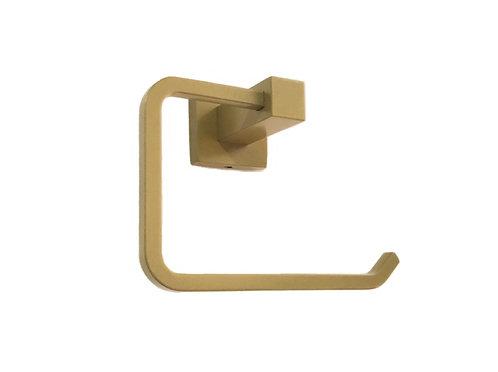 Porta Papel Higiênico Quadrado Dourado Dupla Fixação