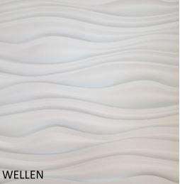Revestimento Em 3d Pvc - Placa Decorativa 50x50 Wellen