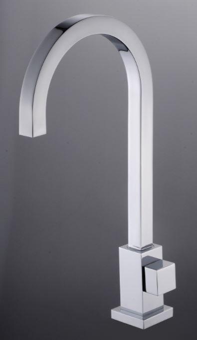 Torneira Quadrada Cozinha E Banheiro 1/4 De Volta Alta Metal
