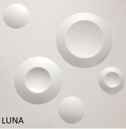 Revestimento Em 3d Pvc - Placa Decorativa 50x50 Luna