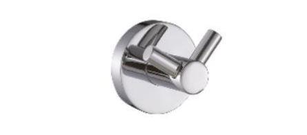 Cabide Redondo Duplo Para Banheiro Com Dupla Fixação