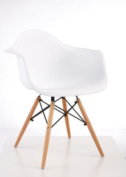 Cadeira Colorida Pvc Modelo Vegas C/ Braços Branca