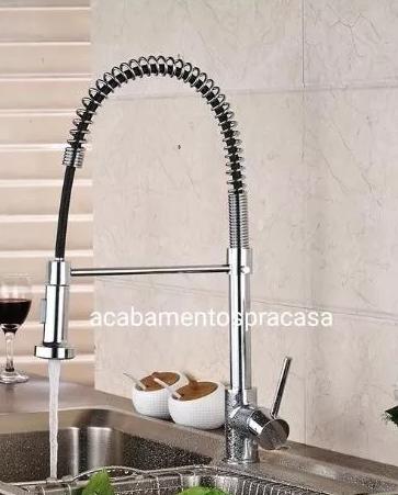 Torneira Gourmet Misturador Monocomando Luxo 2 Jatos