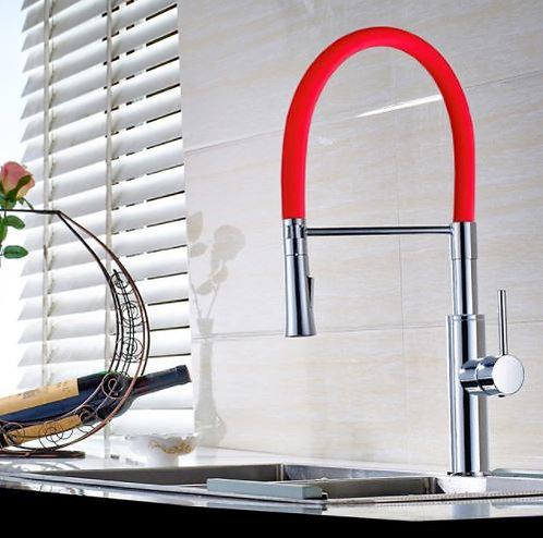 Torneira Monocomando Gourmet Luxo Linha Color Vermelha