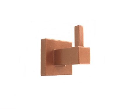Cabide Quadrado Para Banheiro Rose Gold Dupla Fixação