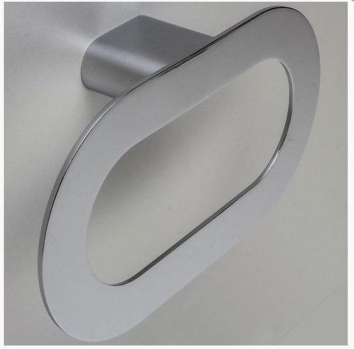 Porta Toalha Oval Slim Cromada Luxo