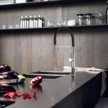 Torneira Monocomando Gourmet Luxo Redonda Linha Color Preta