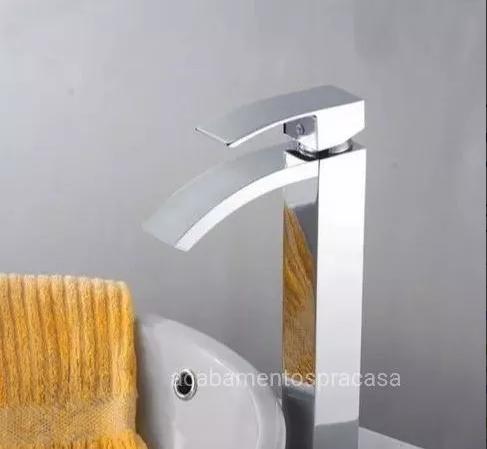 Torneira Misturador Monocomando Calha Slim Luxo Alta