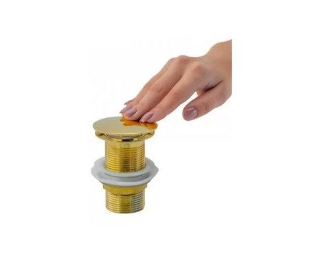 Válvula Click Inox Para Cuba De Vidro E Louça Dourada