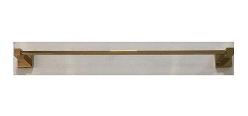 Porta Toalha Linear 60cm. Quadrado Dourado Brilhante