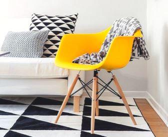 Cadeira Colorida Pvc Modelo Vegas C/ Braços Amarela