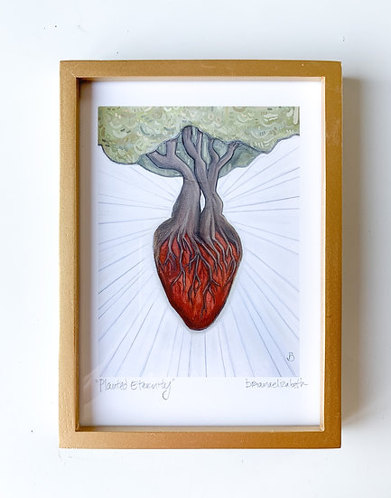 """""""Planted Eternity"""" 5x7"""" print in thin gold frame"""