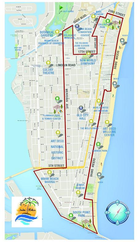 Sobe Rides Tour Route