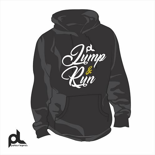 Sudadera Juvenil Negra Jump and Run