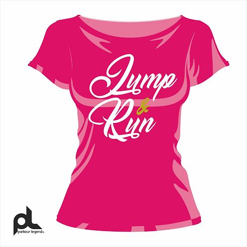 Playera Dama Rosa Jump
