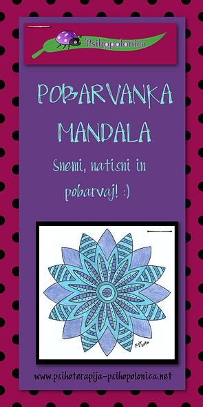 PsihoPolonica - pobarvanka mandala - natisni