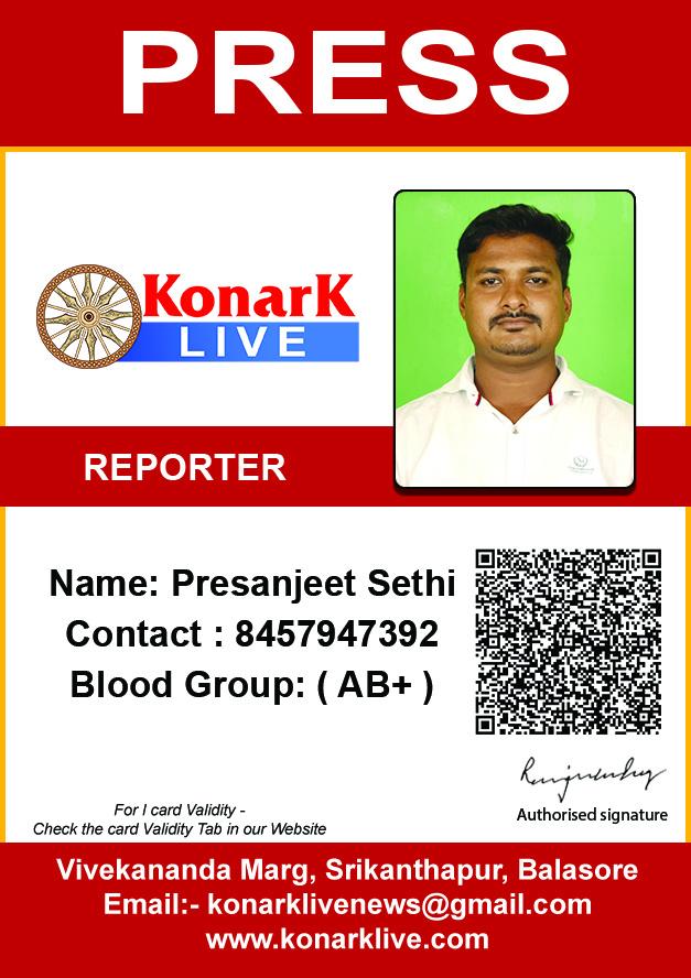 Reporters I Konark News Card Live