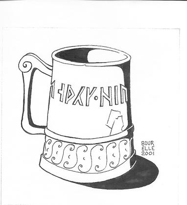 Runic Mug and Spoon