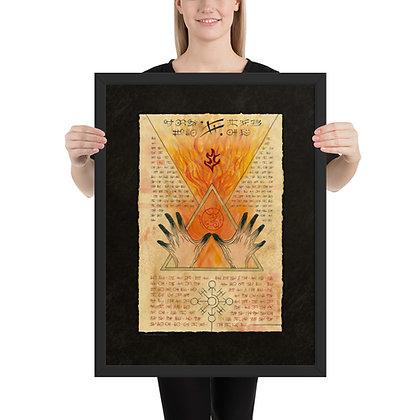 Burning Hands Print