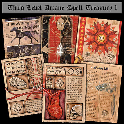 Third Level Arcane Scrolls: Spell Treasury I