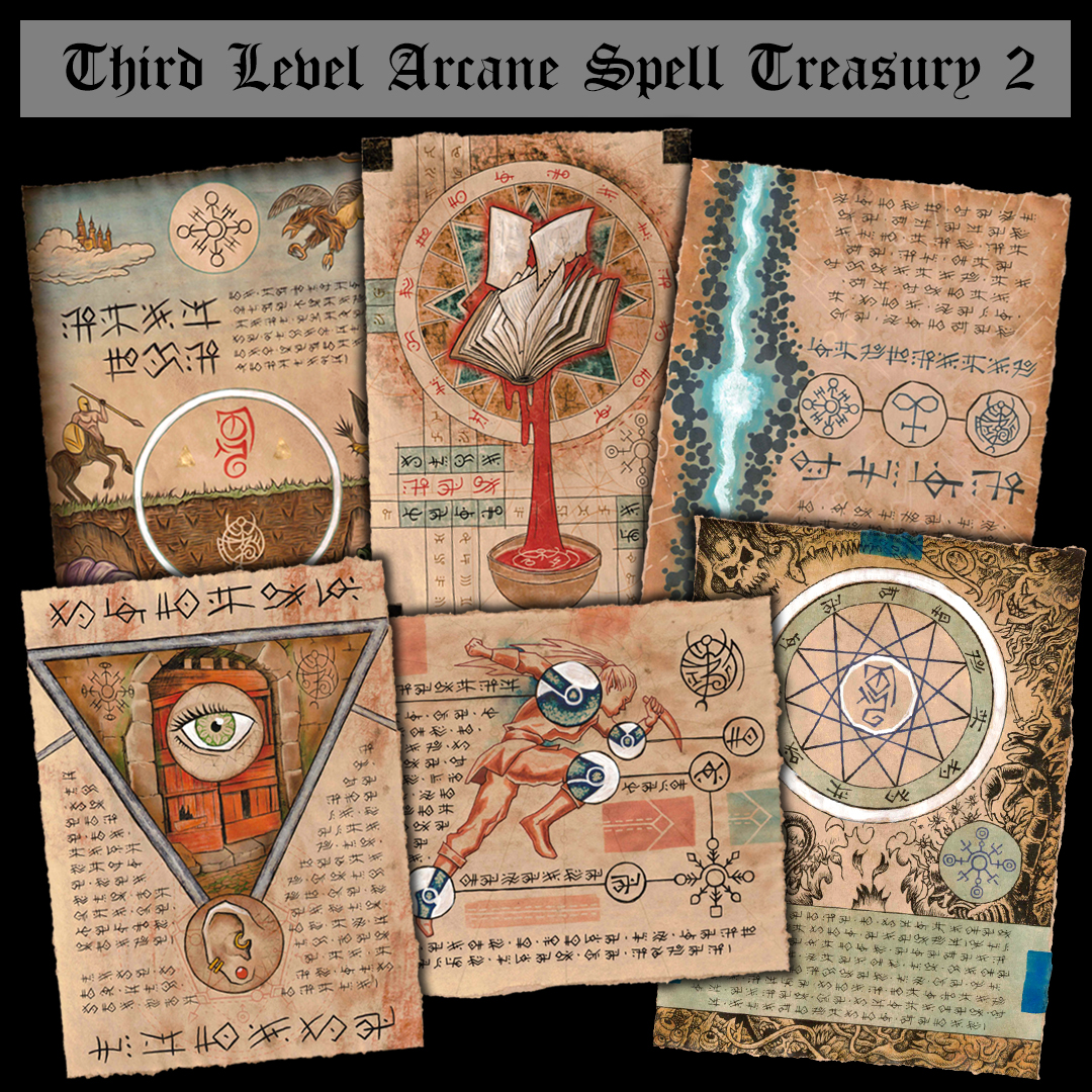 3rd Level Arcane Spell Scrolls Available for Immediate Shipping