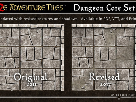 Dungeon Graphics Upgrade and Printed Tiles