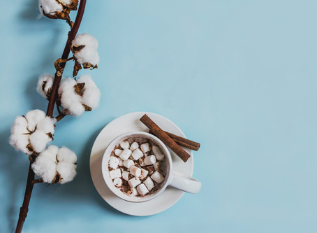 Hausbrandt Hot Chocolate with homemade marshmallows and crushed roasted almonds.