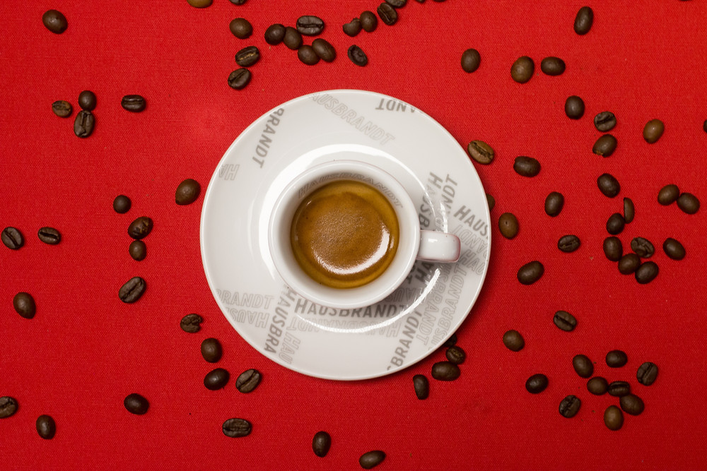 Hausbrandt Coffee with a perfect espresso which looks like it's filled with energy and flavour