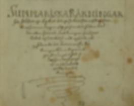 Exempel på gammal skrivstil från dombok på 1700-talet