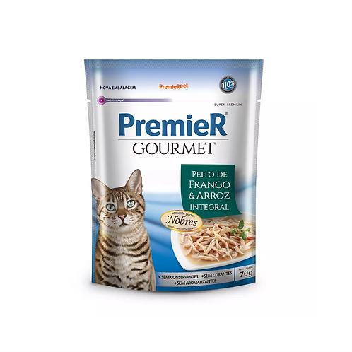 Premier Sachê Gourmet Para Gatos sabor Peito de Frango e Arroz integral