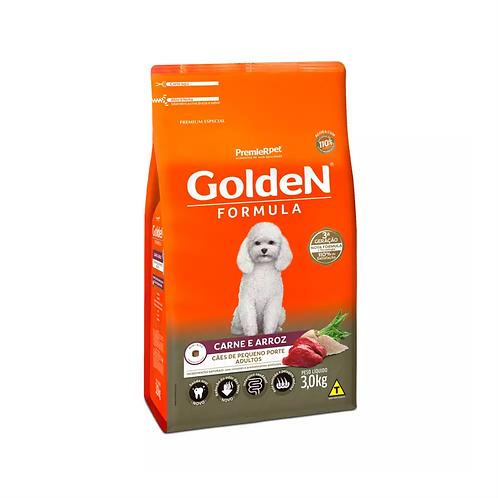 Ração Golden Formula Mini Bits Para Cães Adultos Pequeno Porte Carne e Arroz