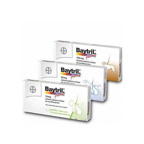 Antibiótico Bayer Baytril Flavour Enrofloxacino