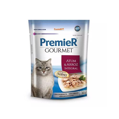 Premier Sachê Gourmet Para Gatos sabor Atum e Arroz integral