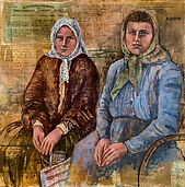 Ellis Island Immigrants painting
