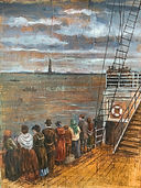 Ellis Island Boat Painting