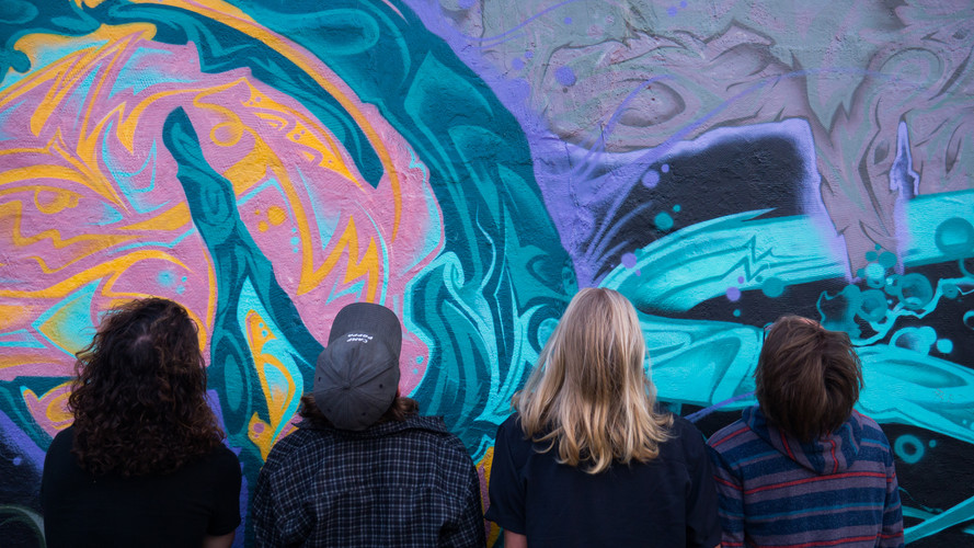 The Macks Band mural from Beaver's Diges
