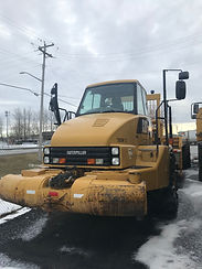 2008 CAT 730 Articulated Flat Deck Truck