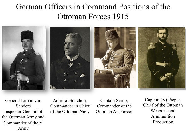 German Officers in Ottoman Command positions 1915