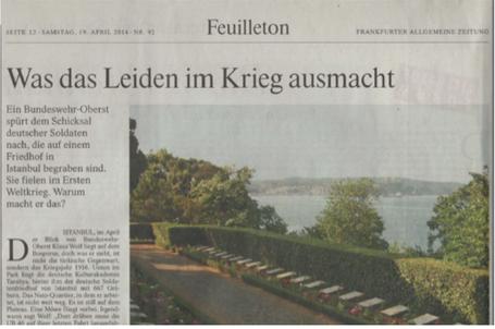 Artikel in der FAZ vom 19. April 2014