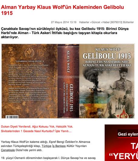 Türkische Ausgabe meines Buches erschienen