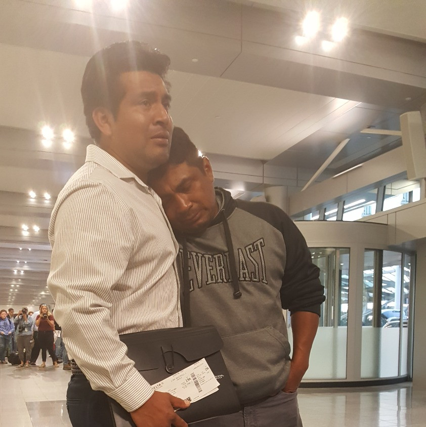 Jesus Lara says good=bye to his brother before deportation