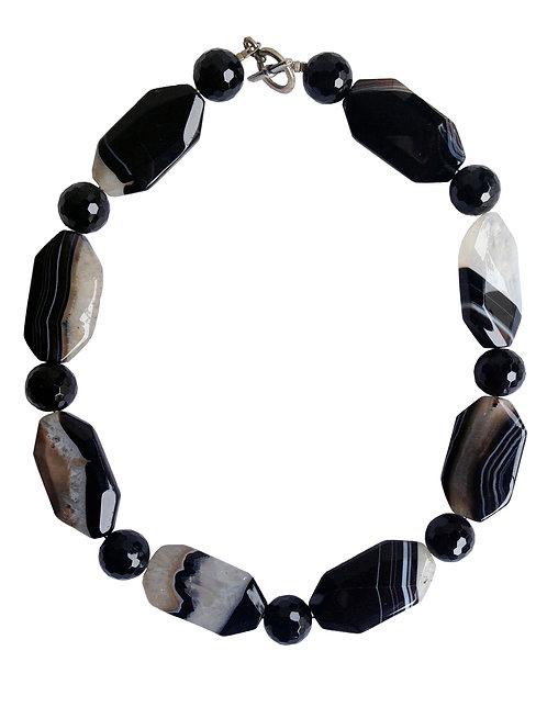 B&W Mix Stones Necklace