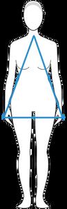 מבנה גוף משולש / אגס