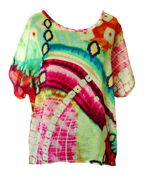Rainbow Cotton Oversized Shirt