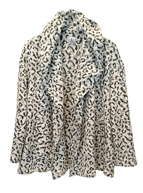 B&W Leopard Cardigan